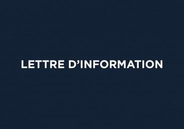 Lettre d'information : janvier 2021