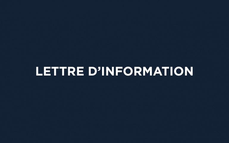 Lettre d'information : juillet 2021